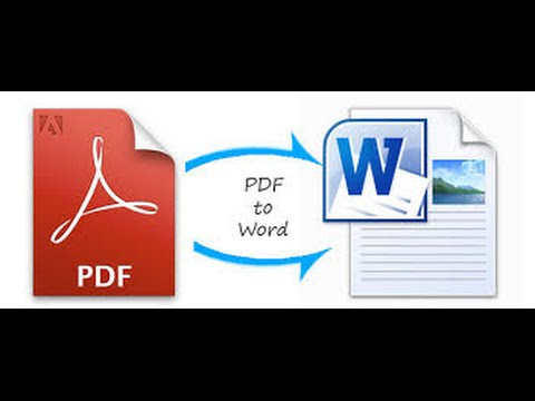 PDF to Word (doc, docx) and PNG