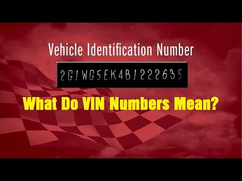 What Do VIN Numbers Mean? - Wrenchin' Up