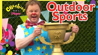 Mr Tumble Plays Outdoor Sports and Games ⚽️ 🎾 💦   CBeebies