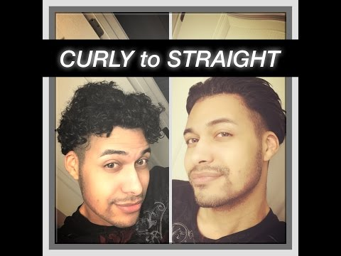 curly hair to straight (men's tutorial)