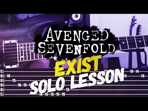 Guitar Study: Avenged Sevenfold - Exist SOLO Lesson