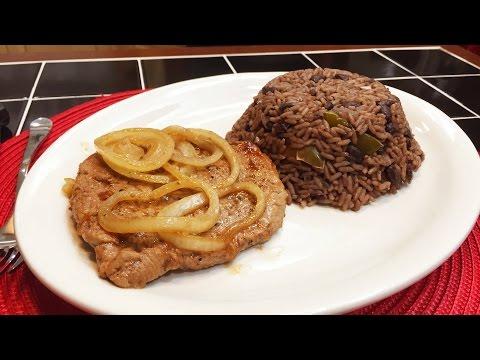 Arroz Congri y Bistec de Lomo de Cerdo  🐷🍺 Riquísima comida Cubana!!