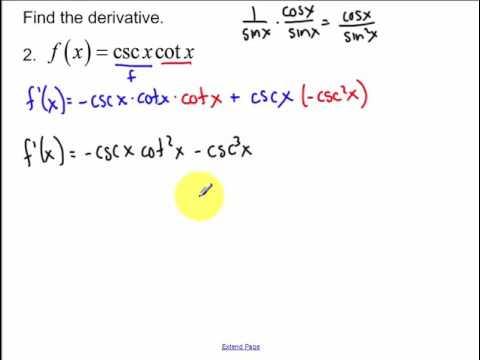 3.5 - Derivatives of Trigonometric Functions (2017)