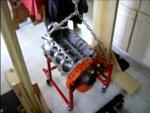 327 CHEVY ENGINE HOIST HOMEMADE