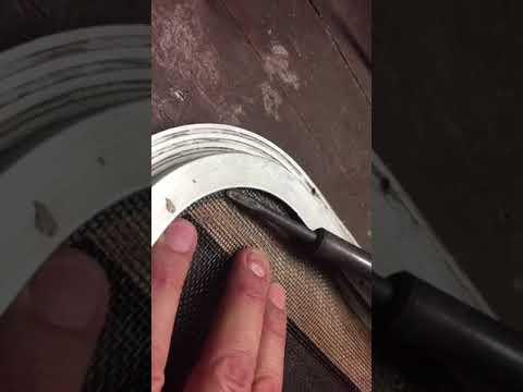 Repair caravan fly screens