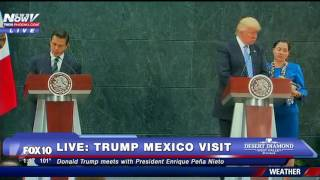 FNN: Donald Trump Meets With Mexico President Enrique Pena Nieto Before MAJOR IMMIGRATION Speech