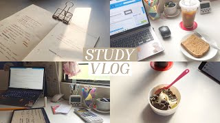 studying for 15 hours daily ☕️ (online college study vlog)