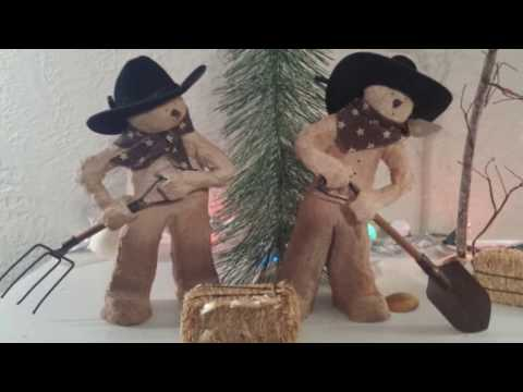 Homemade Primitive Christmas Tree Ornaments