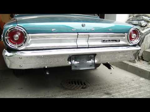 1964 Ford Fairlane 500 V8 engine test,after valve stem seals changed