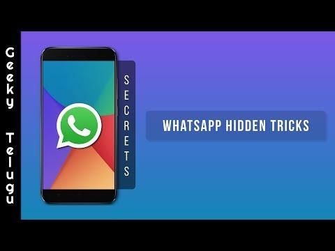 WhatsApp Hidden Secrets That You Don't Know | Telugu | Geeky Telugu