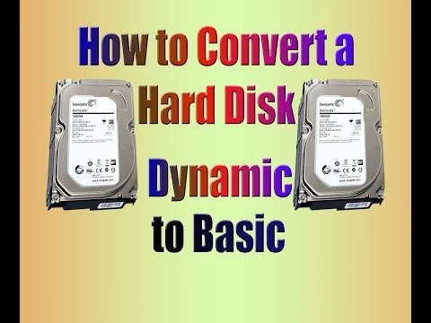 Hdd Dynamic Partition To Basic Partition Convert