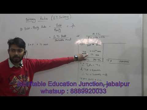 ratio analysis part 4 for class 12 bcom mcom mba jaiib ca cs cma in hindi
