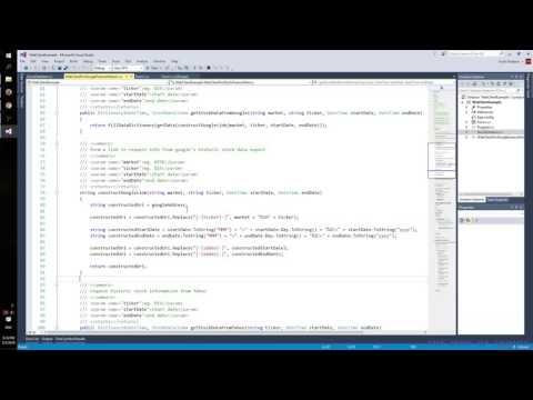 C#: Using the WebClient in .NET to Parse Stock Data From Google and Yahoo