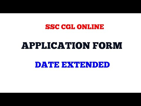 Date Extended SSC CGL 2018 online Application form