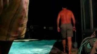 swimming at midnight
