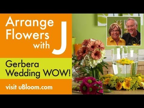 How to Make Wedding Bouquets with Gerbera Daisies!