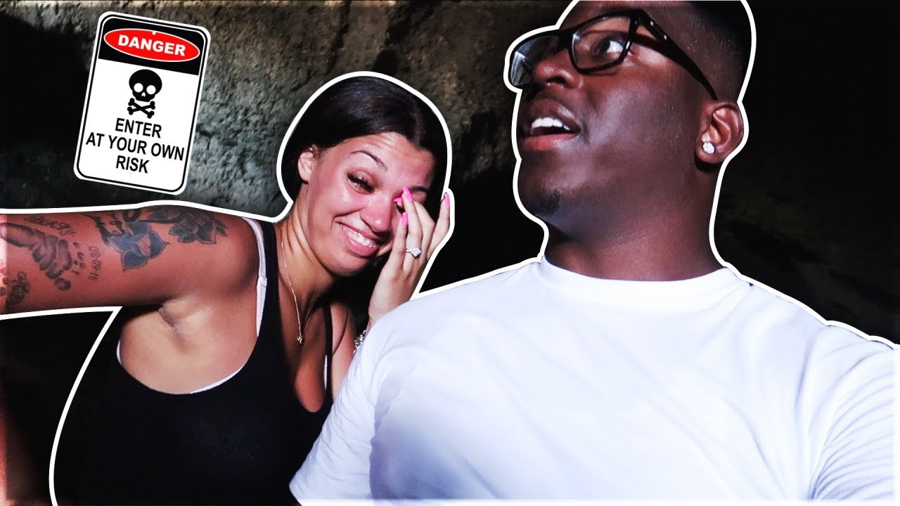 WE GOT STUCK IN AN ABANDONED CAVE!! (HAUNTED)