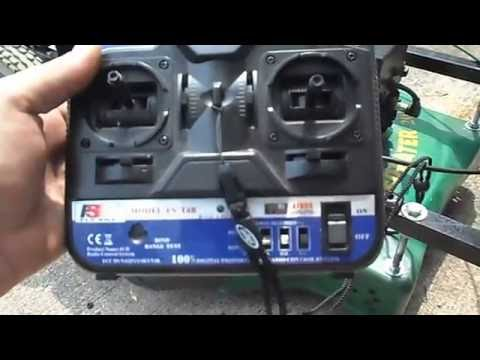 How to make rc remote control lawn mower part 1
