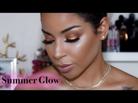Summer Inspired SMOKEY Eyes and GLOWING Skin!   BeautybyLee