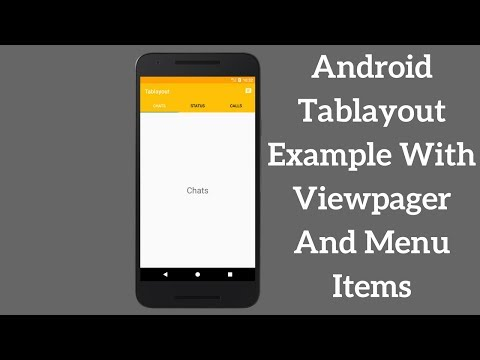 Android Tablayout Example With Viewpager And Menu Items (Demo)