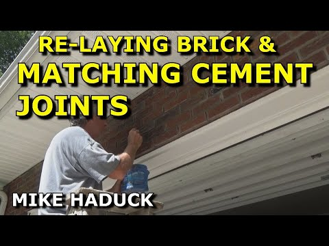 Re-laying brick and matching cement joints (Mike Haduck)