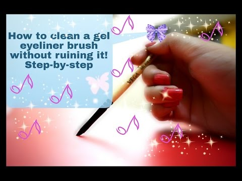 How to clean gel eyeliner brush step-by-step without ruining it! ll AMAZING YOU