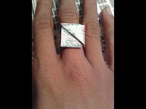 HOW TO MAKE A RING WITH MONEY