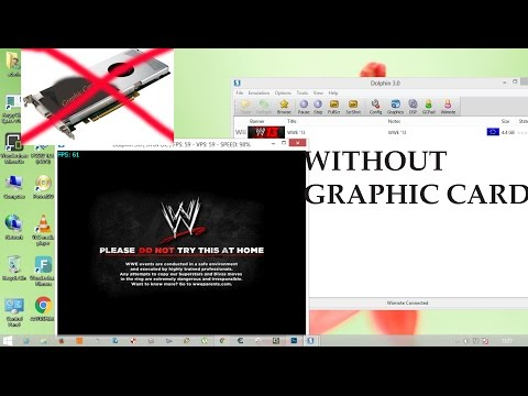 How to play all high graphic game(wii) in dolphin without graphic card!