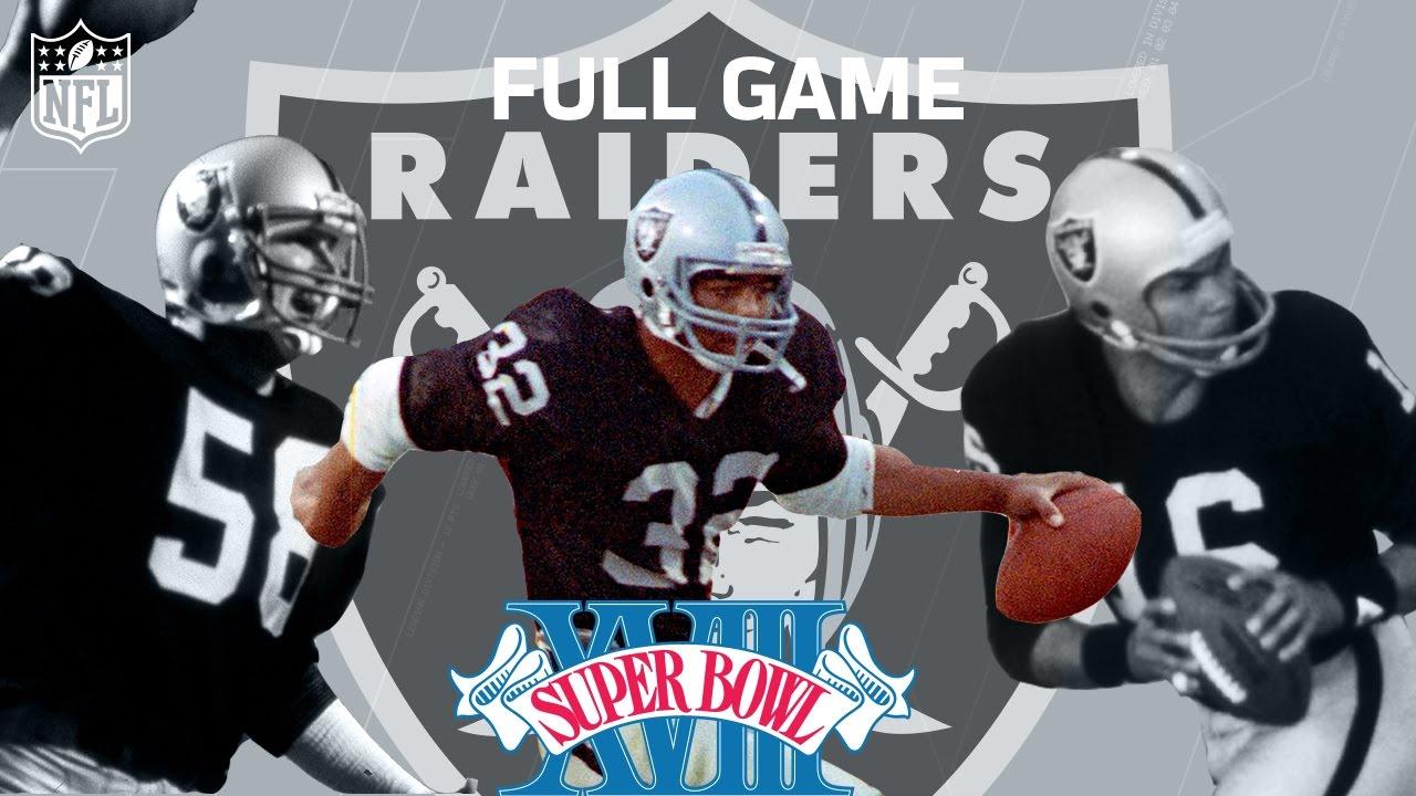 Super Bowl XVIII: Marcus Allen Runs All Over Washington | Redskins vs. Raiders | NFL Full Game