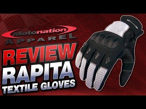 Motonation Apparel Rapita Textile Gloves Review | Sportbike Track Gear