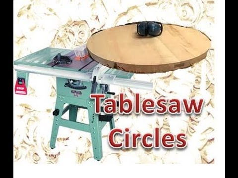Cutting large circles on the table saw.