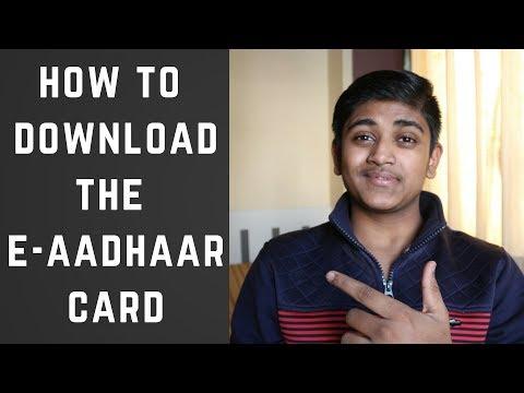 HOW TO DOWNLOAD E-AADHAAR CARD
