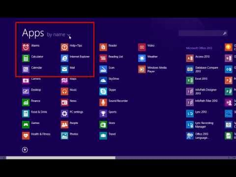 Windows 8.1: Adding and Remove Apps from Start Menu