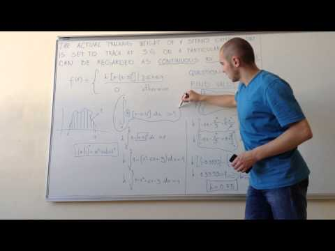 Continuous Random Variables and Probability Distributions: Probability Density Functions #1