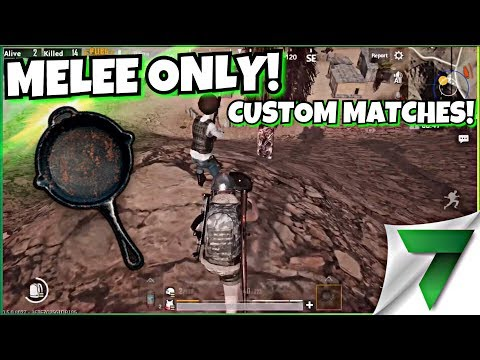 MELEE ONLY TOURNAMENTS CUSTOM MATCHES!!   PUBG MOBILE