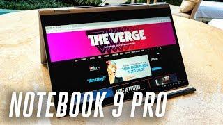 The Samsung Notebook 9 Pro has a much sharper design