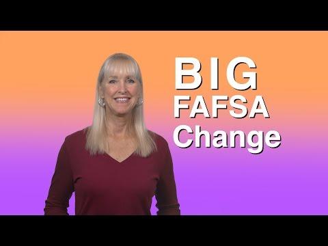 Big FAFSA Changes