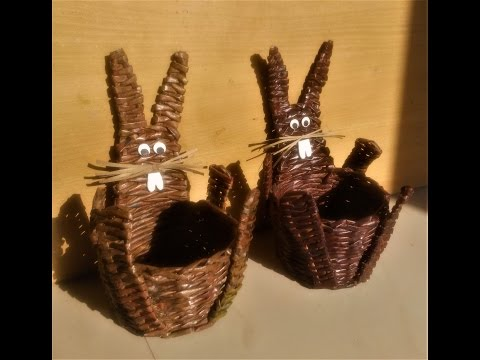 How To Make A Bunny Basket with Newspaper / Newspaper Craft / Best out of waste