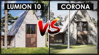 Lumion 10 VS Corona Render | Exterior Modern Villa