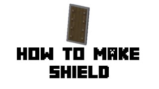 minecraft how to get shield xbox one