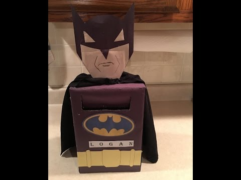 DIY BATMAN VALENTINE'S BOX