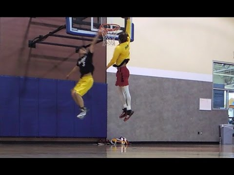 Chandler first dunk session of 2017 and 1 on 1 with Jason Wang