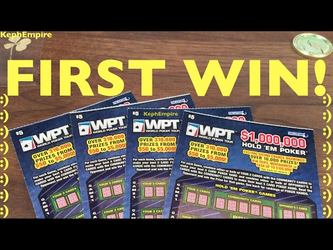 FIRST WIN PLAYING MASSACHUSETTS SCRATCHERS! World Poker Tour Hold Em $5 MA Lottery Scratchers