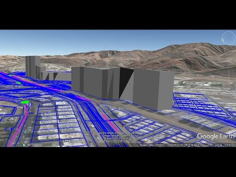 how to export 3D model Building in Google Earth by autocad civil 3d 2012 & 2016