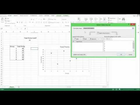 Life Excel Hacks - Adding horizontal Lines to Graph (excel 2013) #2