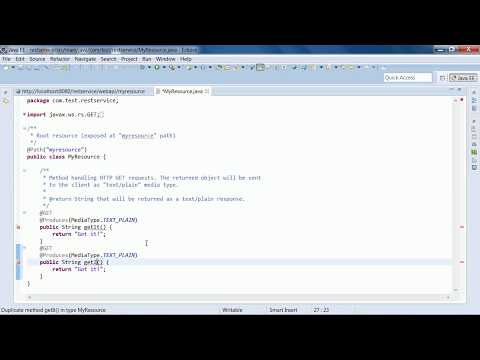 Restful web service example using maven