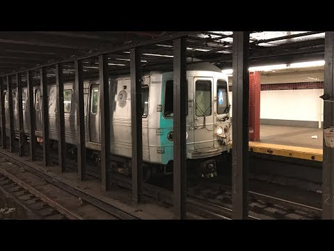 NYC Subway HD 60fps: Pullman Standard R46 A Trains @ 34th Street - Penn Station (5/26/17)