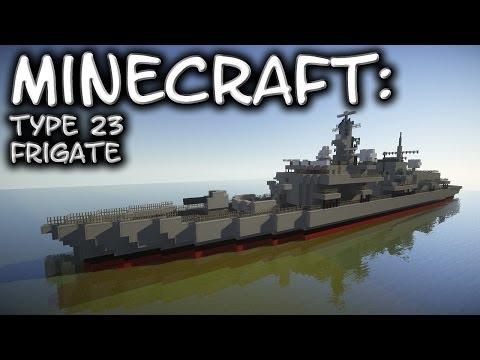 Minecraft: Frigate Tutorial (Type 23 / Duke-Class)