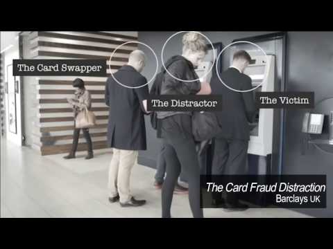 Cash machine atm card fraud prevention video from Barclays