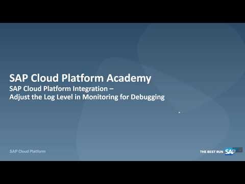 SAP Cloud Platform Integration:  Log Levels & Tracing